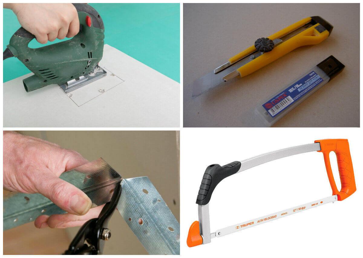 Как разрезать гипсокартон