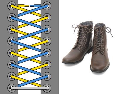 Канадская военная шнуровка - Внешний вид, пример