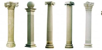 В зависимости от наличия консолей колонны в строительстве бывают: